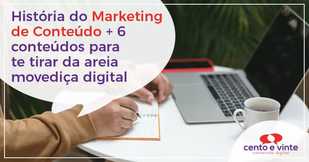 História do Marketing de Conteúdo + 6 conteúdos para te tirar da areia movediça digital