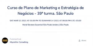 Curso de Plano de Marketing e Estratégia de Negócios - 39ª turma @ Hotel Slaviero Essential São Paulo Jardins | São Paulo